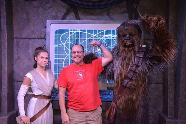Rey has begun meeting guests at Disneyland!