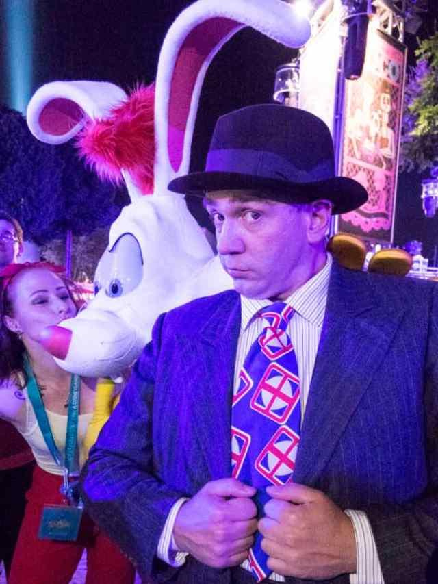 Eddie Valiant and Roger Rabbit at Fandaze in Disneyland Paris 2018