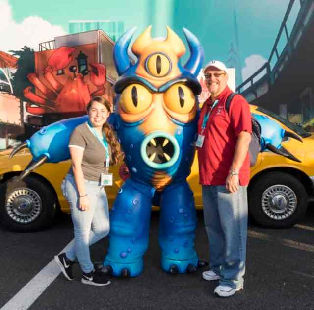 Fred from Big Hero 6 Eddie Valiant and Roger Rabbit at Fandaze in Disneyland Paris 2018