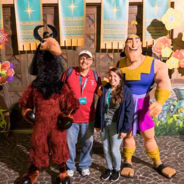 Kuzco and Kronk at Fandaze in Disneyland Paris 2018