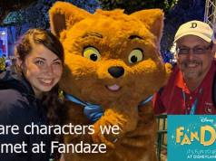Rare Characters we met at Fandaze in Disneyland Paris