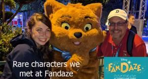 Rare Characters we met at Fandaze in Disneyland Paris