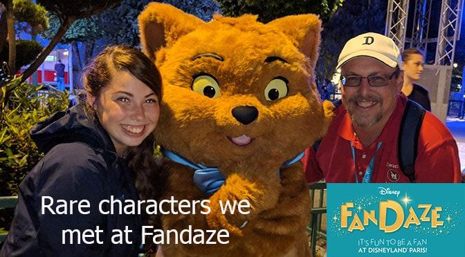 Rare characters we met at Fandaze in Disneyland Paris – Our Experience