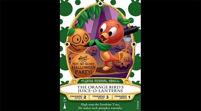 Orange Bird Sorcerers of the Magic Kingdom Card coming to Mickey's Not So Scary Halloween Party