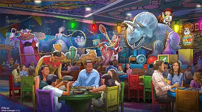 Toy Story Land to add new Table Service Restaruant