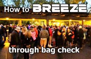 How to breeze through Disney World bagcheck