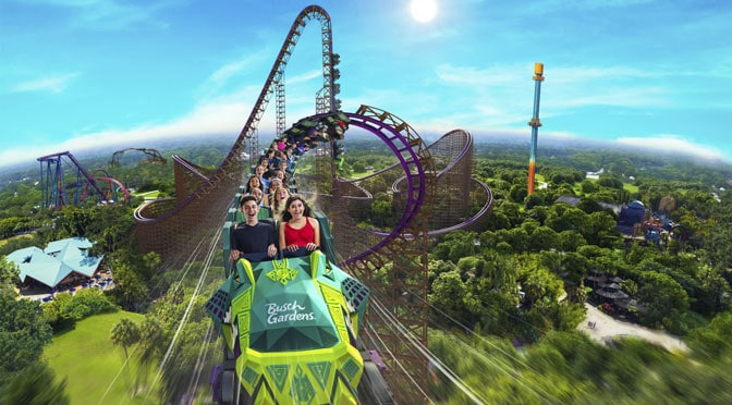 "NEW ROLLER COASTERS ""ICE BREAKER"" AND ""IRON GWAZI"" AMPLIFY THRILLS AT SEAWORLD AND BUSCH GARDENS"
