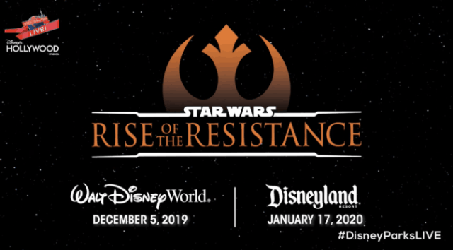 Rise of The Resistance Opening Day