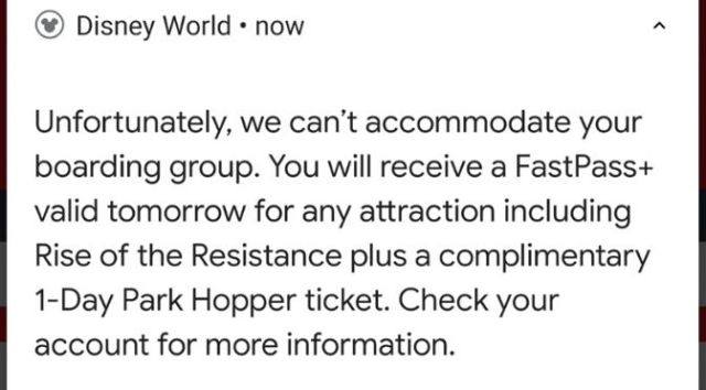 Rise of the Resistance Boarding Notification