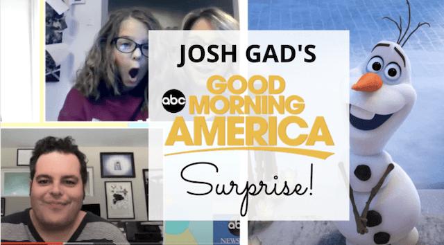 Josh Gad's Surprise on Good Morning America