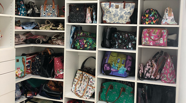 Photo Tour of my Disney Dooney and Bourke Purse Dream Closet (Part 1)