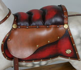 how to make a rocking horse saddle