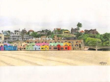 Title: Capitola Beach Medium: Colored pencils Date: November 13, 2010 Dimensions: 11 inches x 8 ½ inches