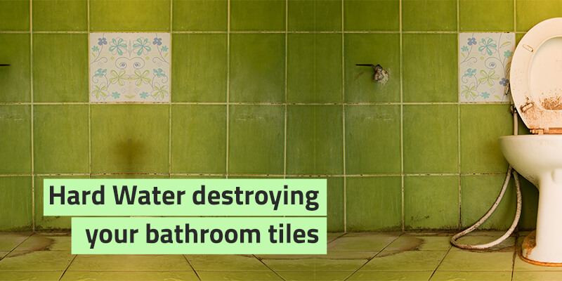 hard water stains from bathroom tiles