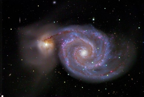 Photo Credit: Kent Biggs (The Great Whirlpool Galaxy http://www.kentbiggs.com/images/galaxies/M51.htm )
