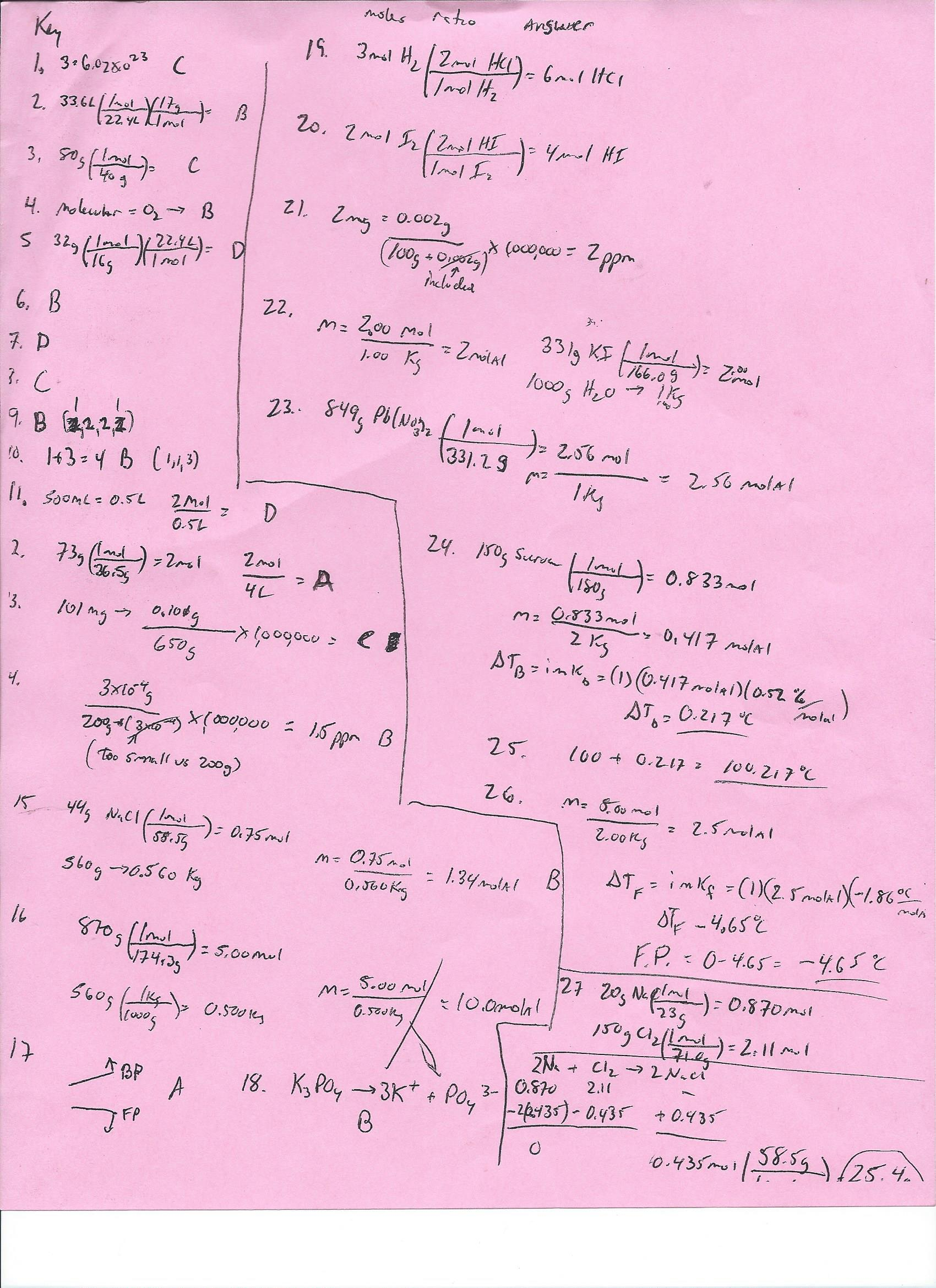Mr Kent S Chemistry Regents Help And Ap Chemistry Exam Review Pages