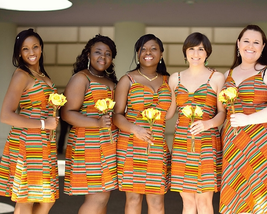 Kente Cloth bridesmaids