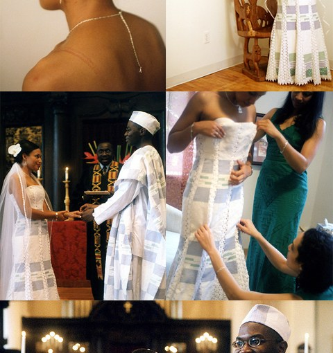 kente cloth wedding dress
