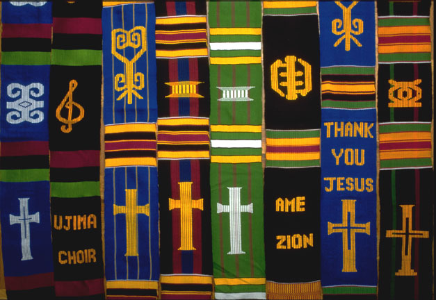 Church choir and clergy kente stole