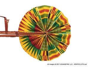 Kente-Breeze African Print Folding Hand Fan