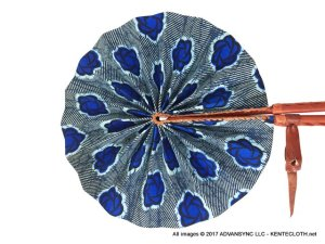 Ocean-Breeze African Print Folding Hand Fan