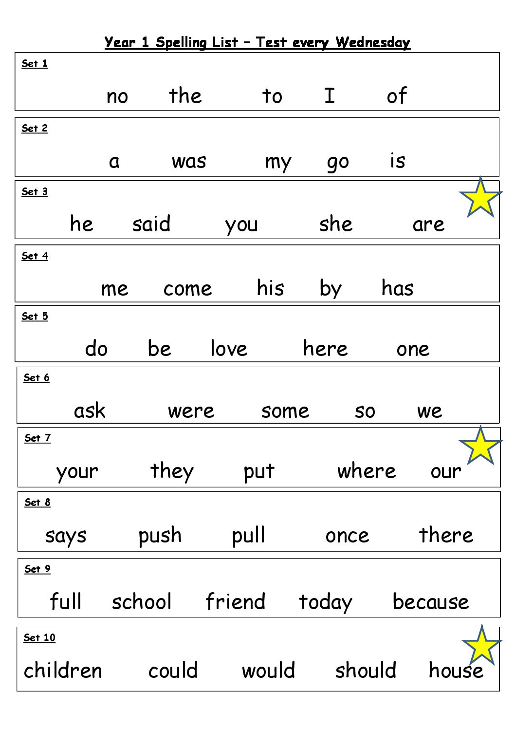 Handwriting Worksheet Yr 5