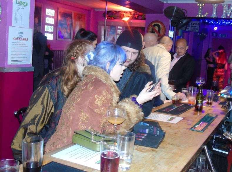 Visitors enjoying a drink at The Limes bar