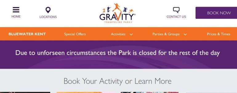 Die Erklärung auf Gravity's Website am Sonntag