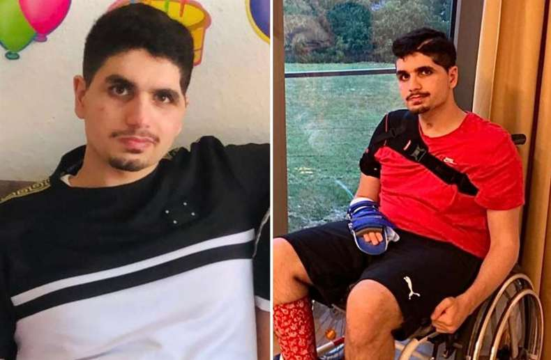 These are the first pictures of Daniel Ezzedine since he was brutally attacked in Canterbury in 2019