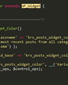 Wordpress notice wp_widget code