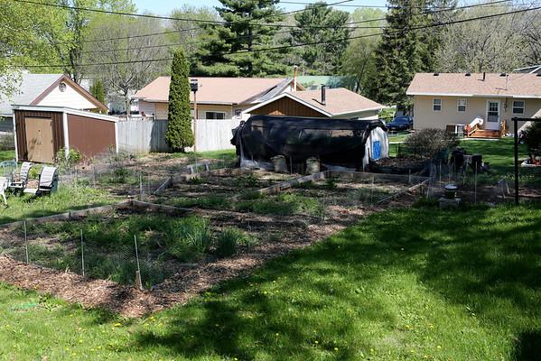 Backyard with Aquaponic Greenhouse