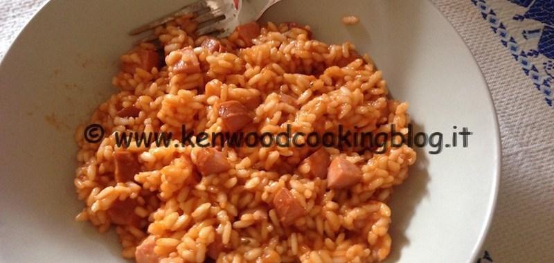 Ricetta Risotto rosso con dadolata di wurstel Kenwood