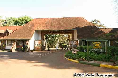 Gate, porte parc Nairobi Kenya