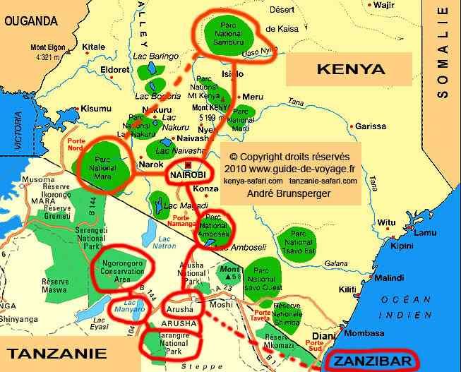 Circuit Voyage de Noces 21jours Kenya Tanzanie Zanzibar