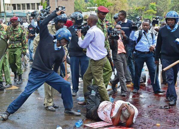 Image result for POLICE BRUTALITY KENYA