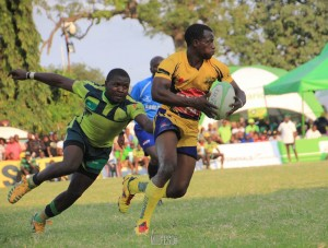 Michael Wanjala (with ball) in action for  previous Homeboyz. He has decamped to KCB and makes his debut against Nondies on Saturday 13 February 2016/Mid-Ego Photography