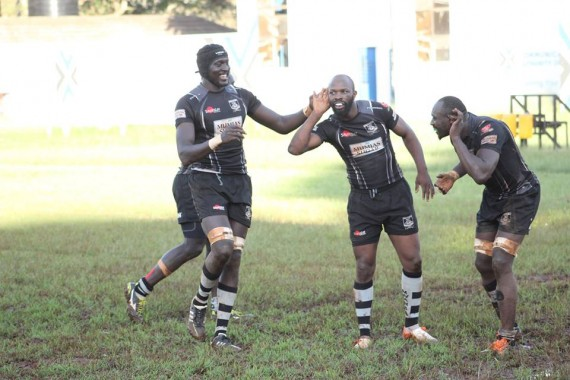 Lavin Asego (center) celebrates after a previous match/Photo/Brian Ayieko