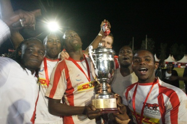 Nondescripts celebrating the 2012 Floodies win