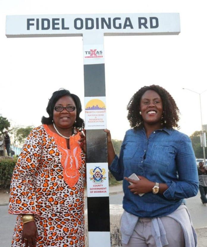 Ida Odinga and her daughter Winnie Odinga. The two ganged up against Fidel Odinga