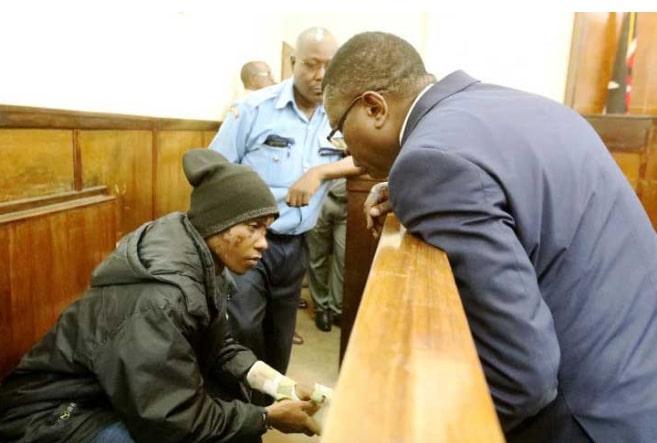 Ivy Wangeci murder suspect Naftali Kinuthia when he first appeared before Eldoret High Court on April 15.