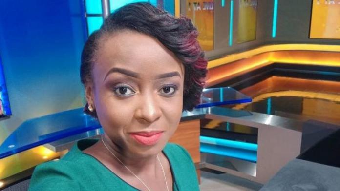 Jacque Maribe posing for a selfie at Citizen TV studios.