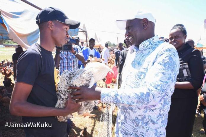 Deputy President William Ruto at Kuku Kambi Chicken Auction in Uasin Gichu County on Friday, December 20, 2019.