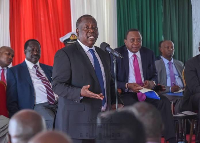 It is Fred Matiang'i 2022 as Raila Uhuru handshake firms up