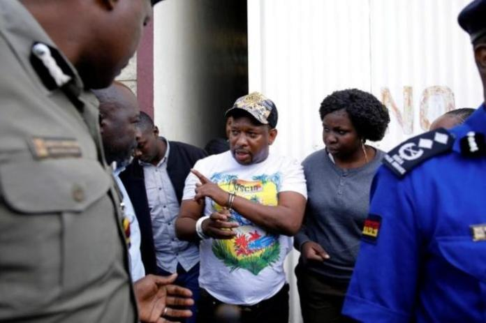 Nairobi Governor Mike Sonko in handcuffs during his arrest, December 6.