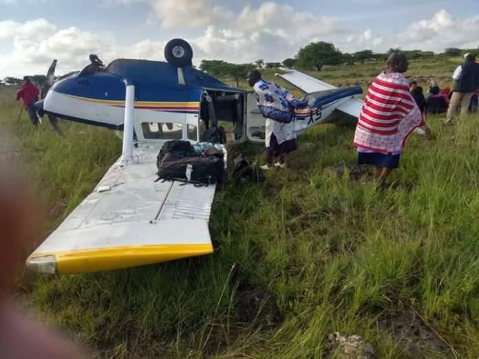 PHOTOS: Plane crashes at Mashuru area in Kajiado