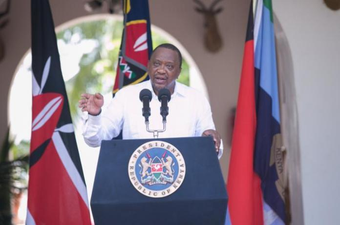 President Uhuru Kenyatta addresses the nation from State House, Mombasa on Tuesday, January 14. He fired Mwangi Kiunjuri from the Agriculture docket while DP Ruto was allegedly on a trip to Sudan