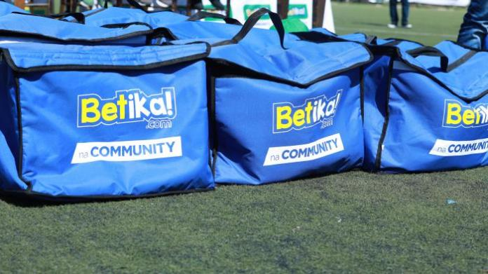 Sporting equipment by Betika at the Camp Toyoyo grounds on Friday, February 7, 2020.