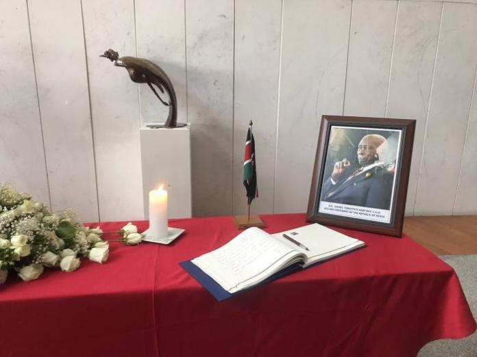 Former President Daniel arap Moi's special desk at the African Union Summit in Addis Ababa on February 9, 2020