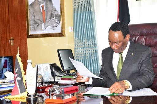 KFCB boss Ezekiel Mutua in his offices.