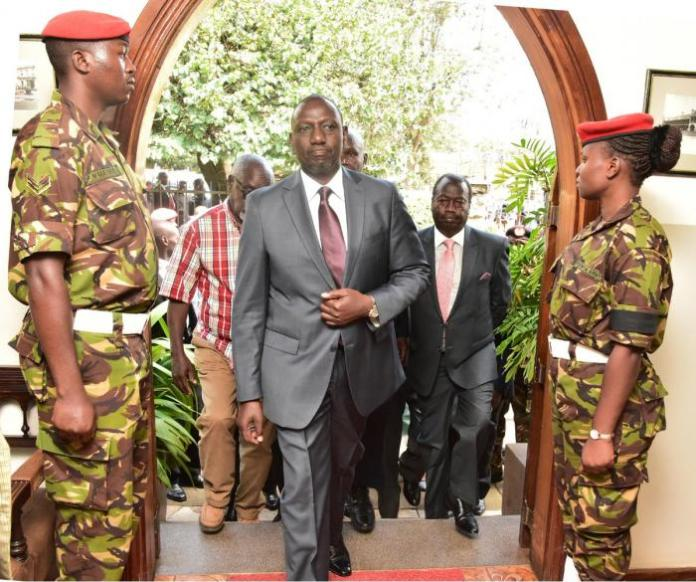 Deputy President William Ruto arrives at Lee Funeral Home on Tuesday, February 4.